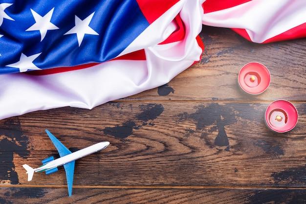 アメリカの愛国心が強い日の背景