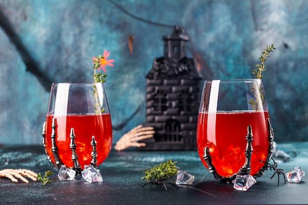 血まみれのハロウィーンパーティーカクテル