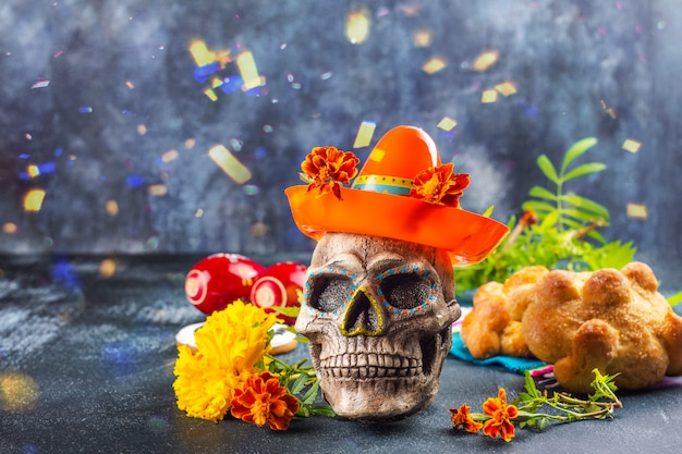 死者の装飾のメキシコの日