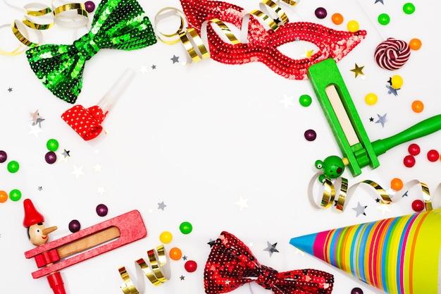 お祝いパーティー、カーニバル、またはプリムの休日の背景
