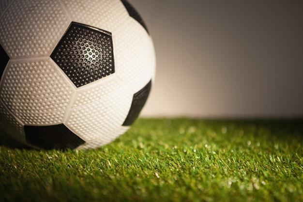 サッカーボールのクローズアップ
