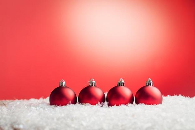 クリスマスつまらないものが並んでいる合成画像