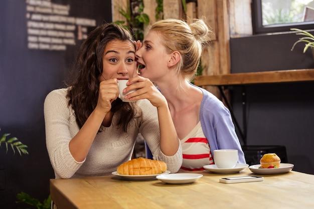 Женщина рассказывает секрет своему другу