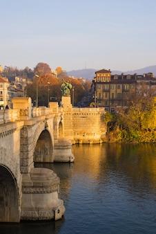 トリノ(トリノ)、ポー川の橋梁の詳細