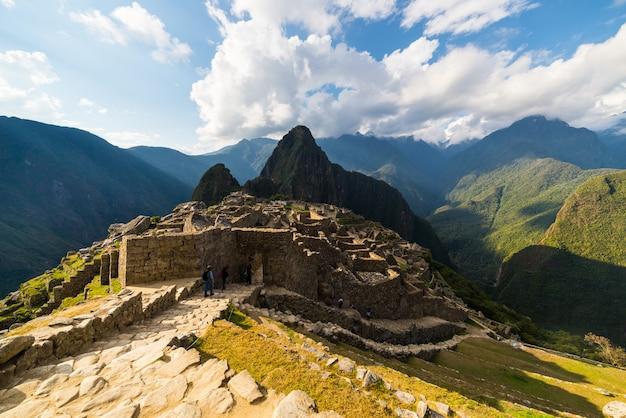 ペルーのマチュピチュでの最後の日光