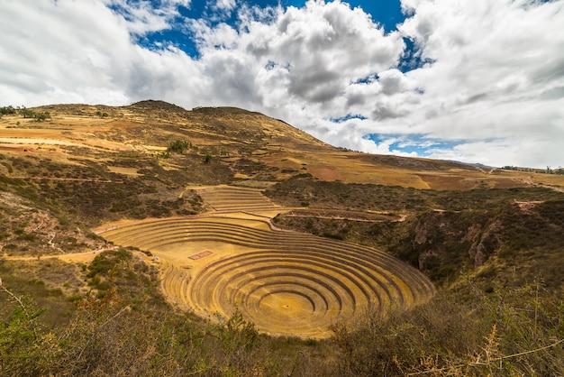 ペルーのセイクリッドバレー、ウツボの同心円状の段丘