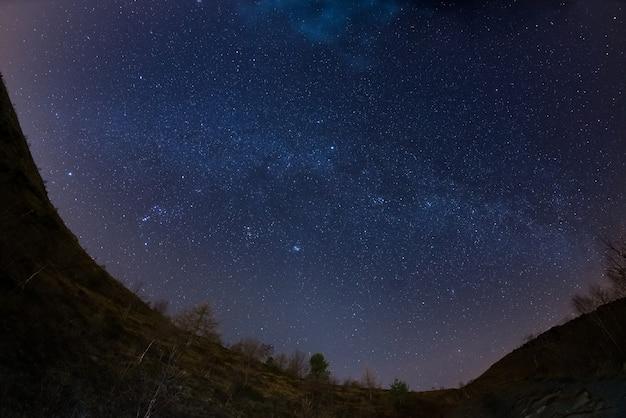 アルプスの上の星空
