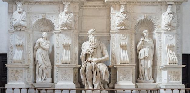 Моисей микеланджело, рим, италия