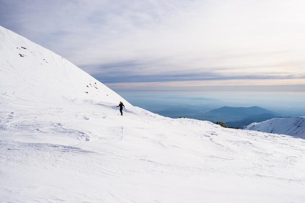 山頂に向かってのアルペンツアー