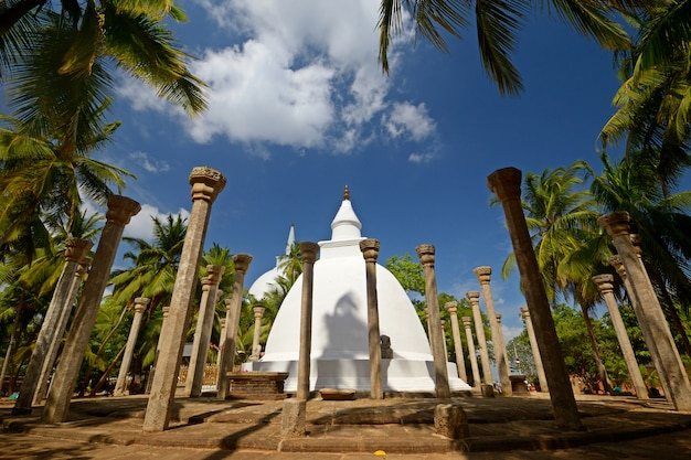 アヌラーダプラ近くのスリランカのミヒンタレ聖地