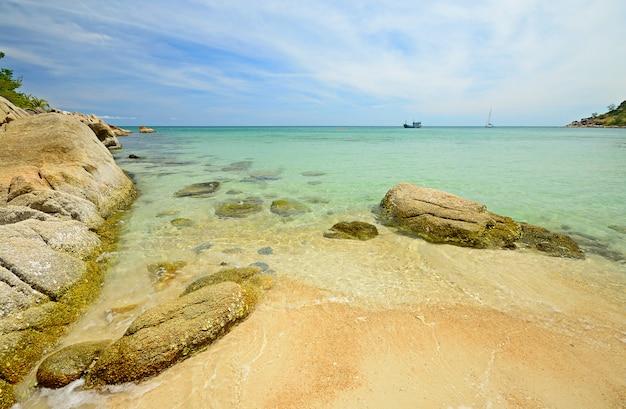 Тропический пляж с бирюзовой водой в таиланде