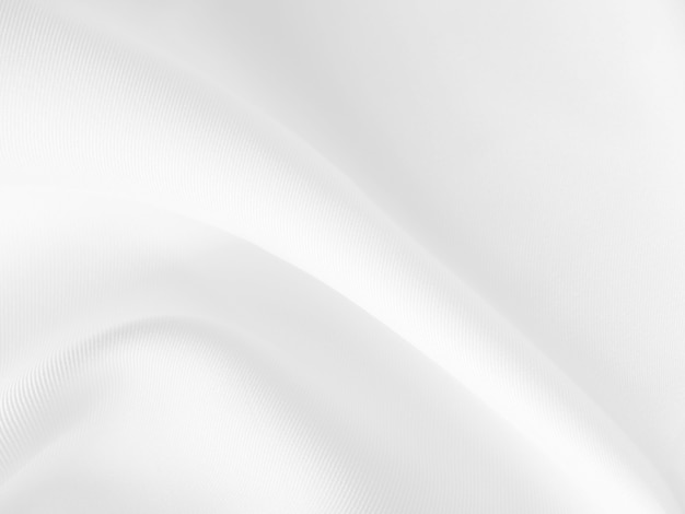 Белый фон одежды абстрактный с мягкими волнами.