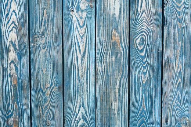 ネイビー水平に描かれたヴィンテージの木製の板