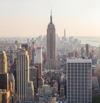 マンハッタン、ニューヨークの空撮