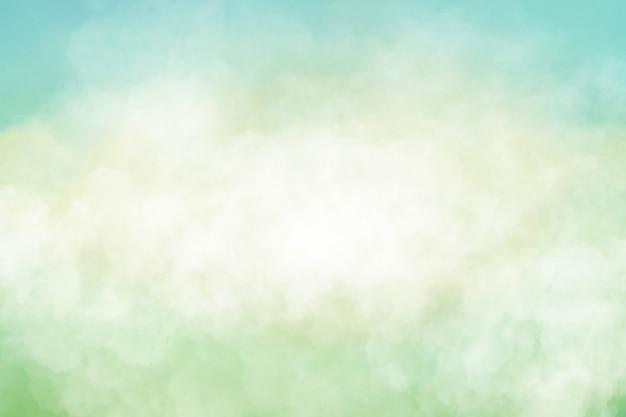 Красивое мягко зеленое и голубое небо абстрактный фон