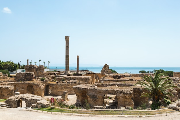 アントニヌス浴場の遺跡。カルタゴ、チュニジア。