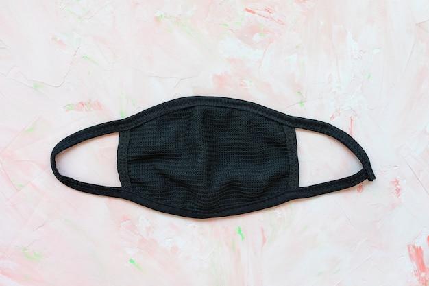 Черная хлопковая маска для лица