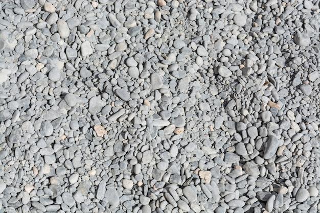 灰色の小石のテクスチャの山