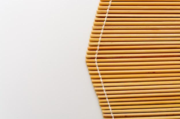 竹マットのクローズアップ