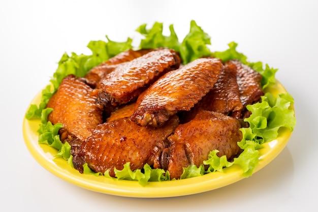 Тарелка куриные крылышки
