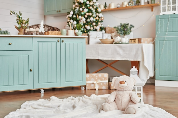 Рождественский декор на кухне.
