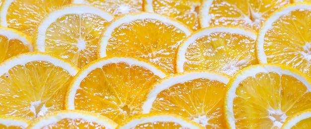 オレンジスライスの背景