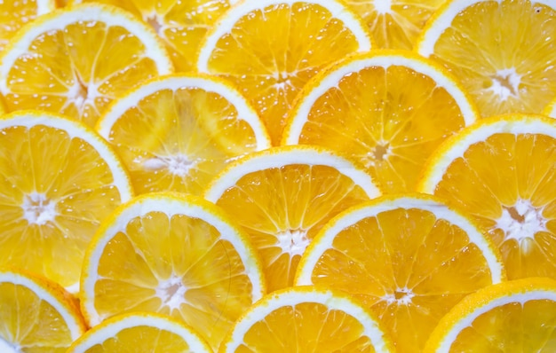 オレンジスライスの背景。