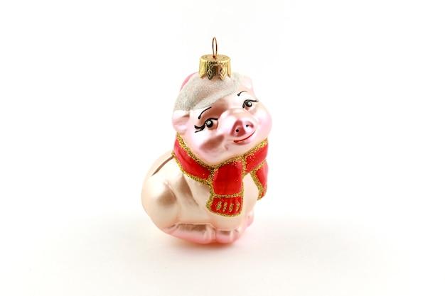 クリスマスの飾りまたは白い背景の上の置物