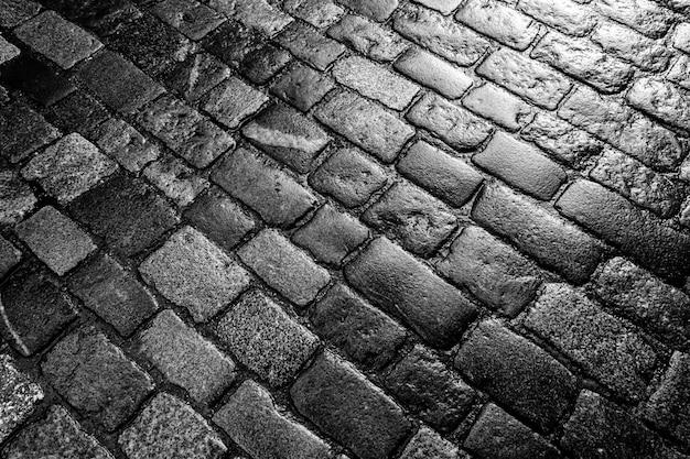 舗装石のテクスチャのクローズアップ