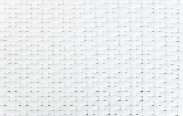 白いバスケット織りパターン