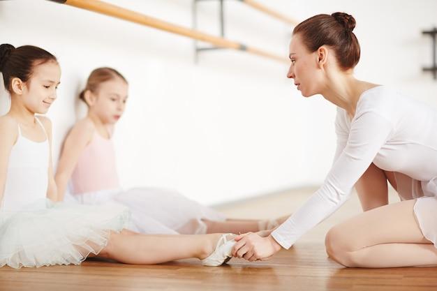 床でのトレーニング