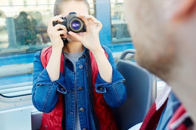 旅行中に撮影する