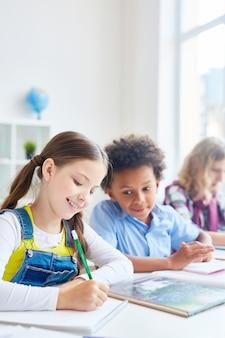 学校での描画