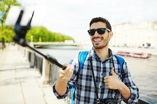 観光客の自分撮り