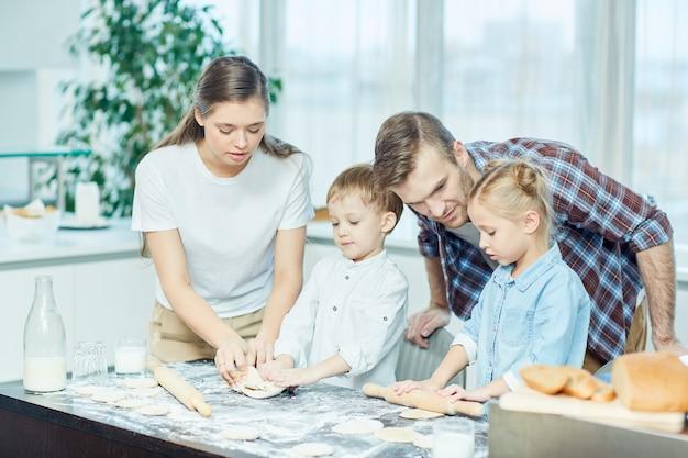 両親と料理