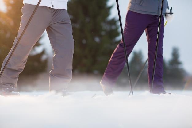 スキーでの移動