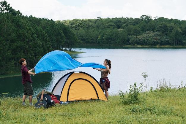 Покрытие палатки