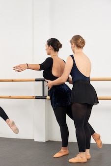 ダンサーの姿勢を調整する