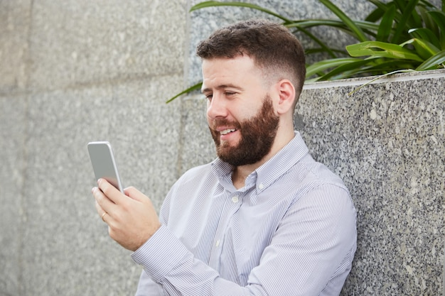 ビデオ通話の実業家