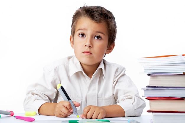 Школьников картина с маркером