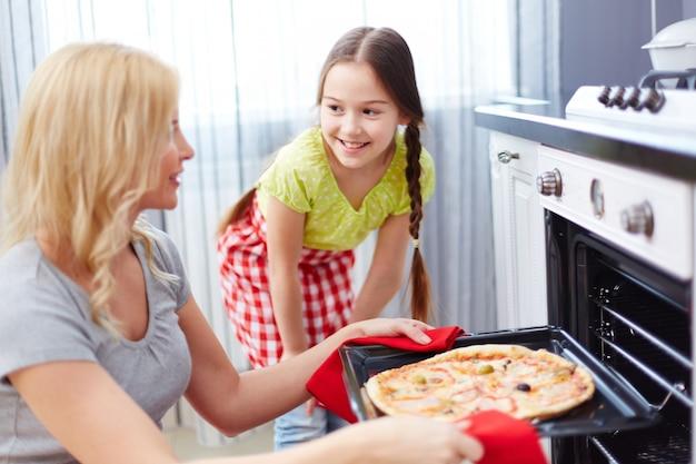 Вкусная пицца готовые к употреблению
