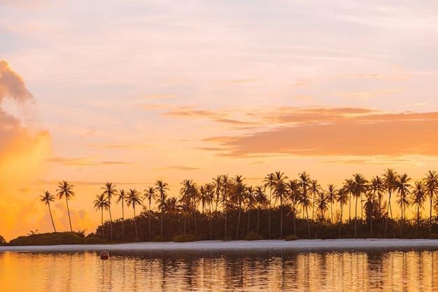 理想的な島で青緑色の水と完璧な白いビーチ