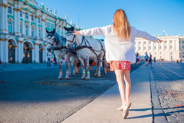 Милая девушка в санкт-петербурге в россии