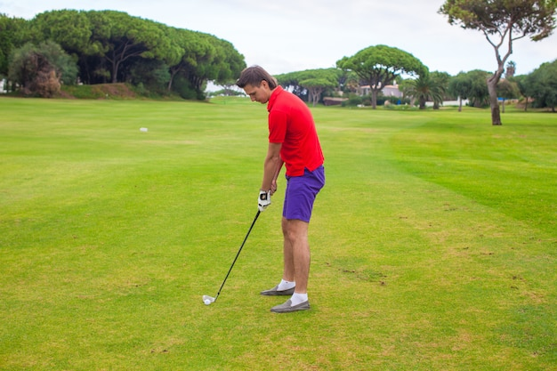 若い男がゴルフ