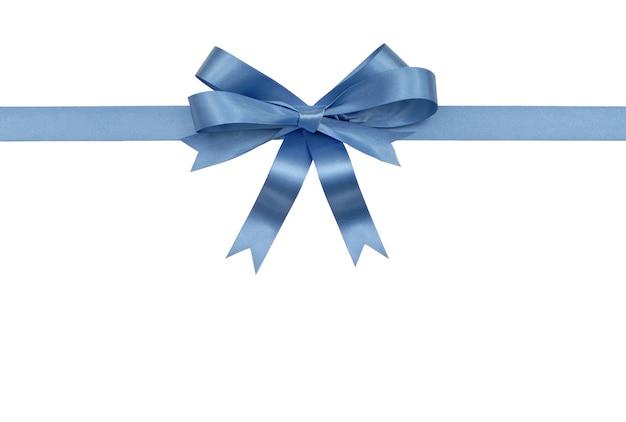 青いリボンと弓
