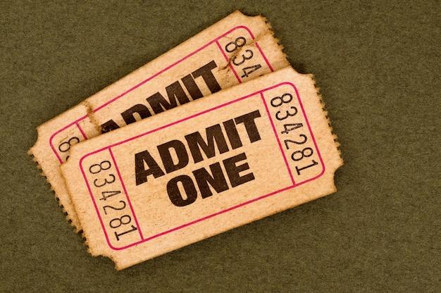 古いチケット