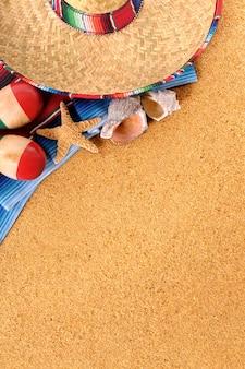 Мексиканский фон на пляже