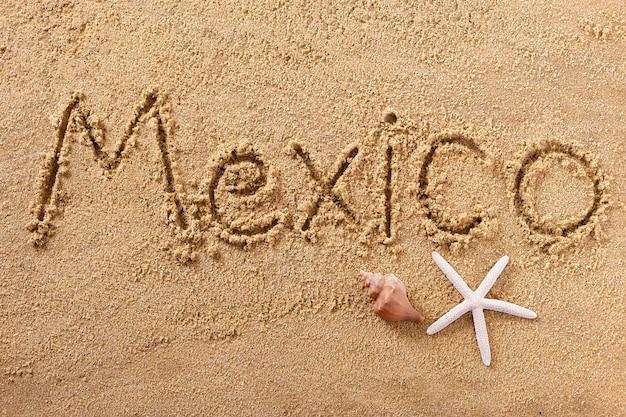 メキシコメキシコの夏のビーチメッセージを書く