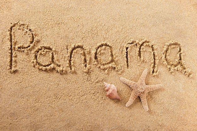 Панама пляж написания сообщения летние каникулы концепция