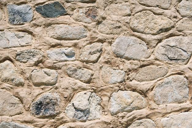 古い石造りの壁の背景テクスチャのクローズアップ